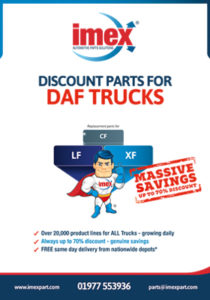 Replacement DAF truck parts available at IMEX