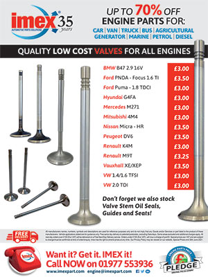 Engine Parts - Low Cost Valves