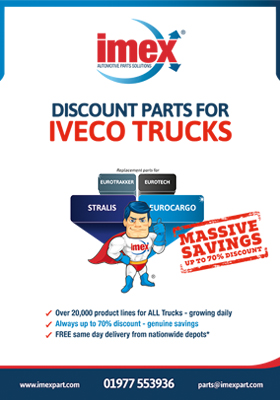 Replacement Iveco truck parts available at IMEX