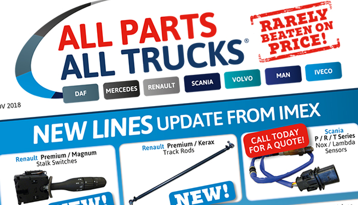 Parts for DAF, Mercedes, Scania, Renault, Volvo, MAN and Iveco trucks
