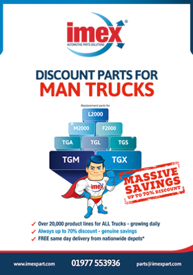 Replacement MAN truck parts available at IMEX