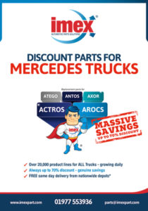 Replacement Mercedes truck parts available at IMEX