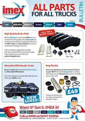 Replacement truck parts for DAF, Mercedes, Renault, Scania and Volvo