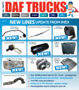 Replacement DAF Truck parts from IMEX