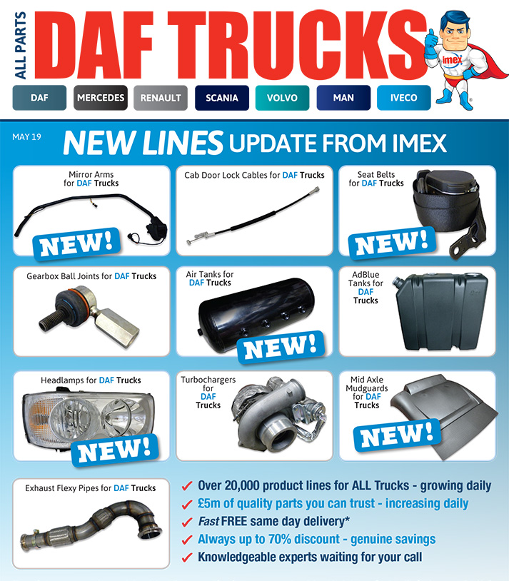 Replacement DAF truck parts at IMEX