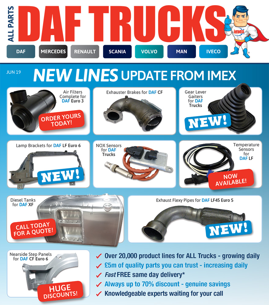 Replacement parts for DAF trucks