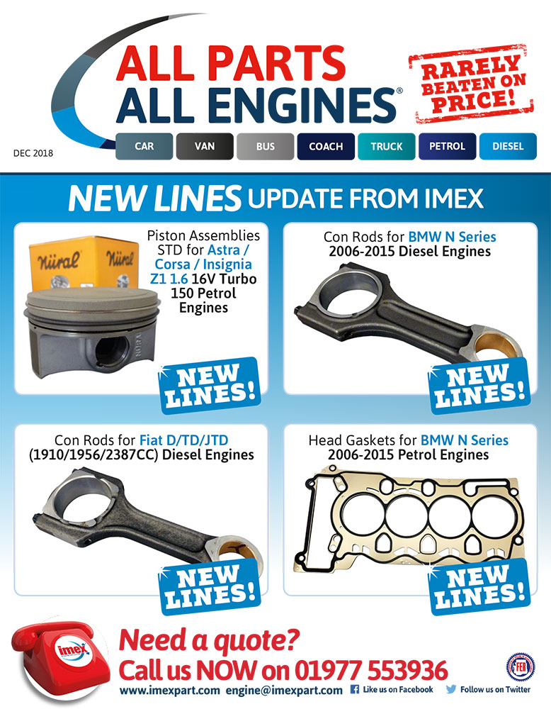 **NEW LINES** Parts for BMW N Series, Vauxhall & Fiat engines