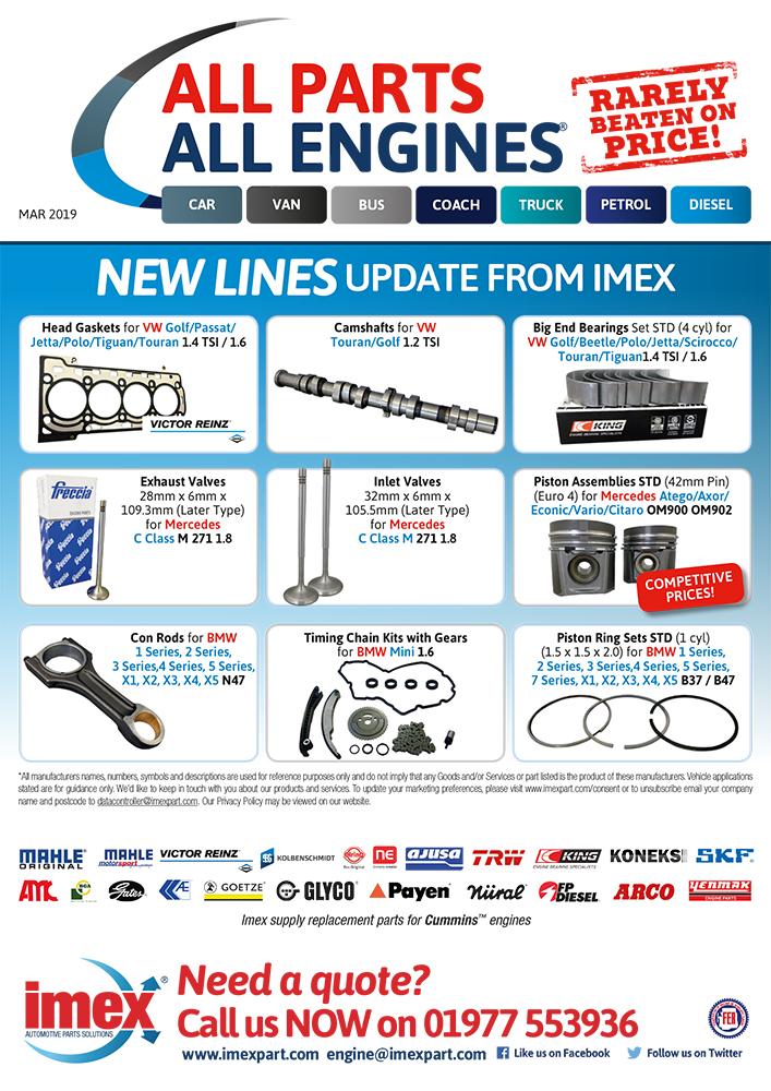 Engine parts for VW, Mercedes & BMW - Imexpart Limited : Automotive