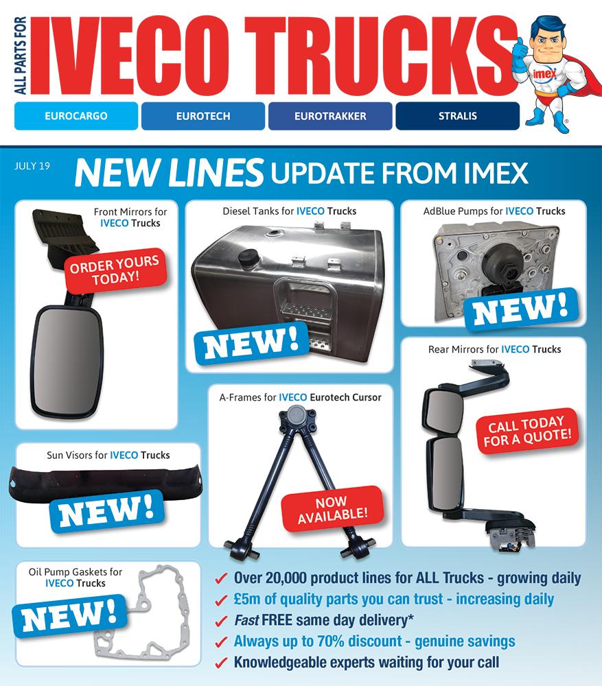 Iveco parts, Iveco truck parts, parts for Iveco trucks