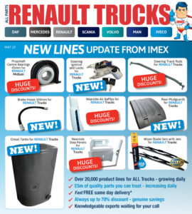 Replacement Renault Truck Parts from IMEX